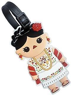 By Mexico identificador de maleta Muñeca Maya PVC