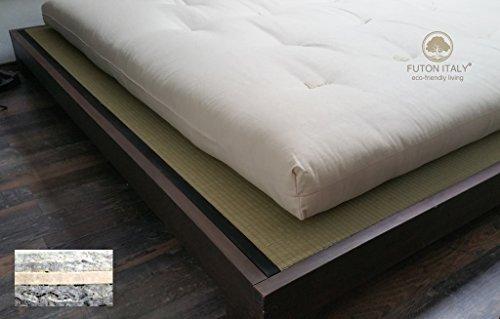 Futon Matelas en pur coton et latex fait à la main en Italie 80 x 200 cm