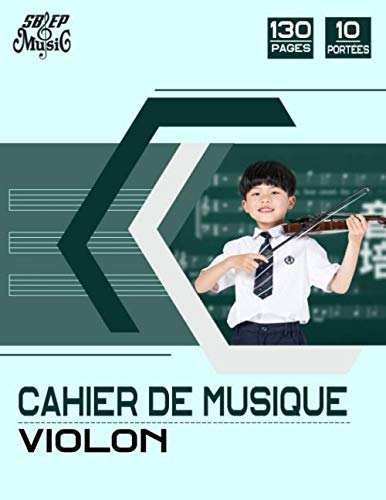 Cahier de Musique Violon: Carnet de partitions, 10 Portées par page, 130 pages, Format A4 PDF Books