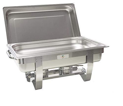 Gastro-Bedarf-Gutheil Chafing Dish mit Speisebehälter GN 1/1Tiefe 65 mm Speisenwärmer aus Edelstahl Wärmebehälter Rechaud