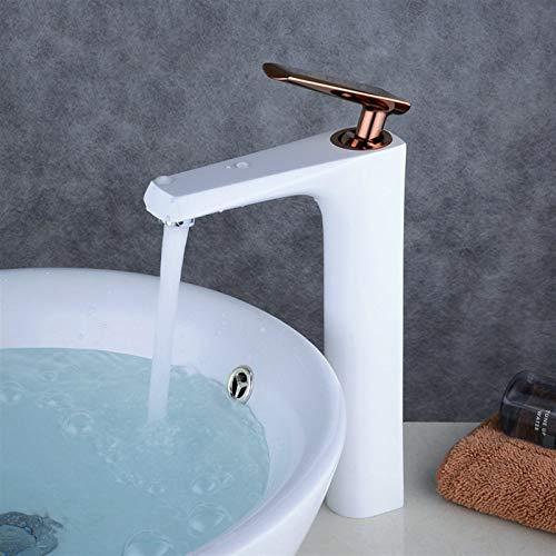 Vinteen Faucet Modern Simplicity Grifos electroplateado manija Oro Rosa Bronce Grifo Blanco clásico Cocina Fregadero Mezclador Grifo sólido latón Lavabo Tapas Accesorios Accesorios