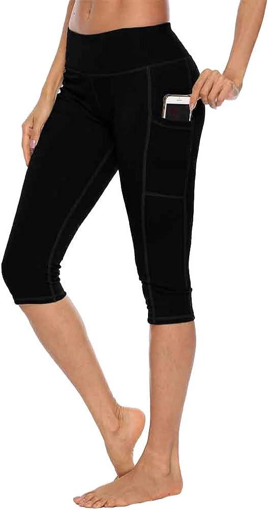 YNALIY Womens Running Shorts Cycling Dancing Yoga Fitness Shorts Tight with Phone Pocket