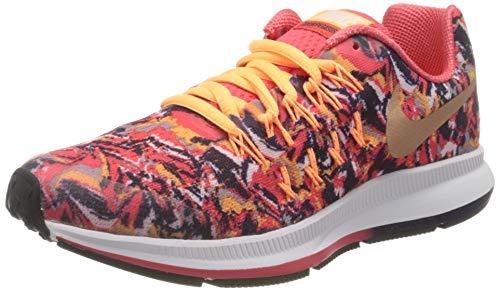 Nike Mädchen Zoom Pegasus 33 Print Laufschuh, Orange, 36 EU
