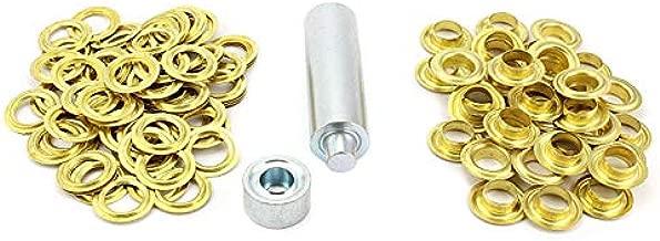 Ösenzange mit 12 Ösen 10mm vermessingt Schlagösen Ösenpresse Einschlagstempel