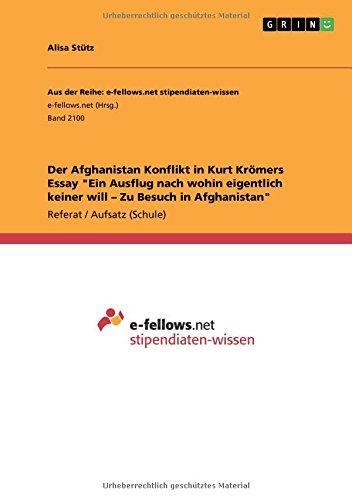 Der Afghanistan Konflikt in Kurt Krömers Essay