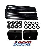 American Automotive 3' Rear Suspension Lift Steel Blocks + Extra Long 12' Square...