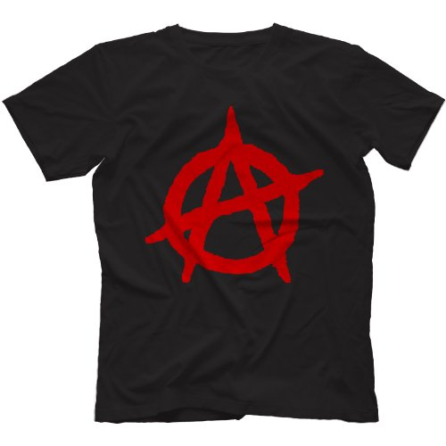 Anarchy Symbol Punk T-shirt for Men. Choice of colours, S to 3XL