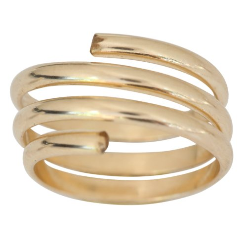 Gold Toe Ring | Gold Toe Rings | 14k Gold Filled Wire Wrap Yoga Coil Adjustable Toe Ring One Fits Fits All Most (Not Plated)