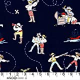 """Dickes Quadrat """"Piraten auf dem Meer"""" auf marineblauem"""
