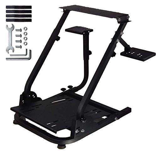 Minneer Racing Wheel Stand Pro Compatible with Logitech G25, G27, G29, G920 Racing Simulator Steering Wheel Stand, Foldable & Tilt-Adjustable,Wheel and Pedals Not Included