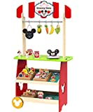 Mickey Mouse Kaufladen Kinder Kaufmannsladen mit Zubehör Supermarkt Kasse Laden Holz Disney