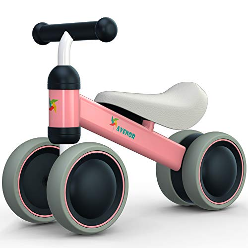 Baby Balance Bike - Baby Bicycle for 6-24 Months, Sturdy Balance Bike for 1 Year Old, Perfect as First Bike or Birthday Gift, Safe Riding Toys for 1 Year Old Boy Girl Ideal Baby Bike (Pink)