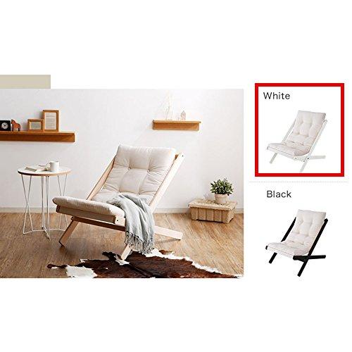Chaise Longue Chaise pliante en bois massif Chaise chaise en bois de style nordique Chaise en hêtre (Couleur : Blanc, taille : B)