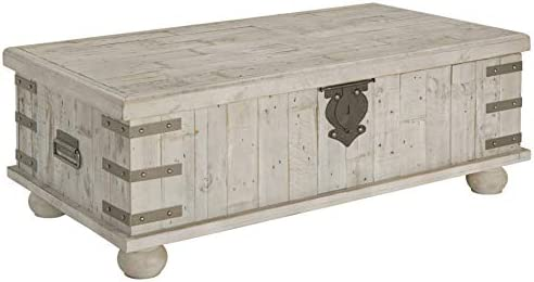 Best Signature Design by Ashley Carynhurst Lift Top Cocktail Table White Wash Gray
