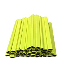 in budget affordable Flat Neon Yellow Wooden Carpenter Pencil – 72 Count Pack Made in USA
