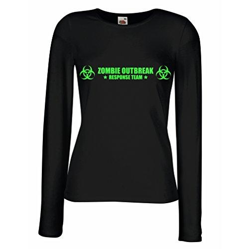 lepni.me N4519M Mangas largas Camiseta de la hembra Zombie Outbreak Response Team...