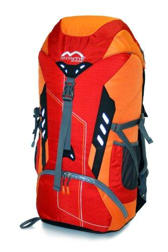 MONTIS XLITE 45 Unisex Trekking-Rucksack, Wander-Rucksack & Reise-Rucksack in einem, ermöglicht dank Regenschutz auch Bike- & Campingtouren, im modernen Look mit viel Extras & Belüftungssystem