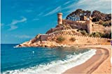 100/300/500/1000 piece Jigsaw Puzzle Game Adults Kids Toy, Sea landscape Badia bay in Tossa de Mar...