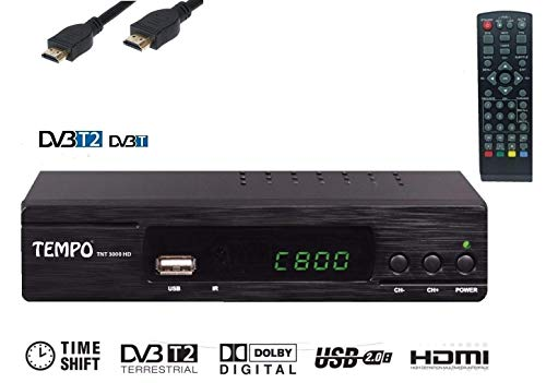 Tempo 3000 Decodificador HD TDT - Digital terrestre Dolby / MPEG-4 / Multimedia...