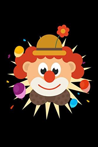 Clown: Notizbuch a5 liniert mit 120 Seiten | Lustiges Geschenk Mädchen Junge Divers Clown Mottoparty Kindergeburtstag Geburtstag Weihnachten Geschenk Notizblock Notizheft Journal