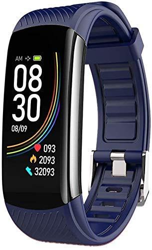 JIAJBG Fitness Tracker C6T Temperatura Corporal Pulsera Reloj Deportivo Inteligente Pulsera Deportivo Ip67 Inforión Push Push Dolor Ejercicio Ejercicio Paso Impermeable Deportes Puls