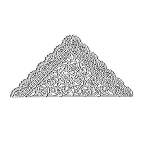 Koehope sjablonen driehoek bloem metaal stansvormen sjabloon DIY scrapbooking album stempel bruiloft papier kaartjes reliëf craft decoratie