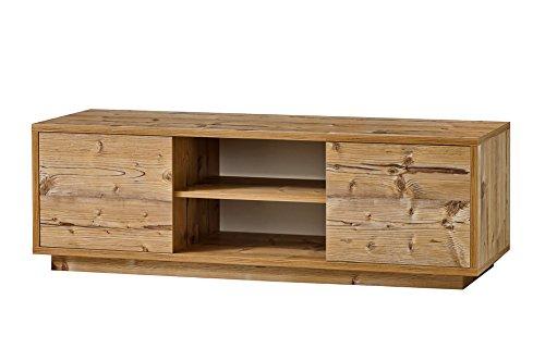 K-Möbel TV Schrank Fichte Dekor Lowboard Fernsehschrank 2 Fächer 2 Türen