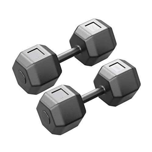 Pesas Juego de Mancuernas PVC Hex Dumbbell Weight Mango Antideslizante Impermeable Y Resistente A La Oxidación Puede Hacer Flexiones Juego de Levantamiento de Pesas Mancuernas Equipo de Fitness Para