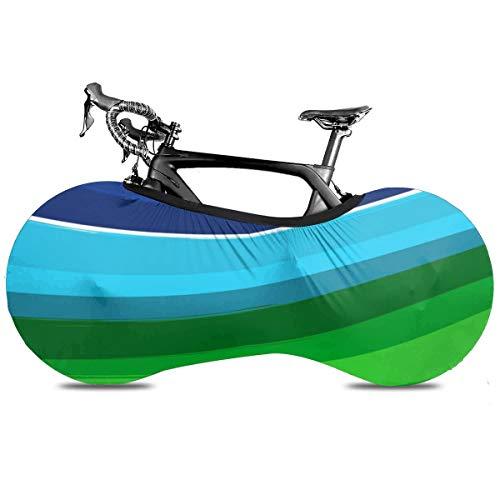 Un oso y la naturaleza interior portátil cubierta de bicicleta interior anti polvo de alta elasticidad cubierta de rueda de bicicleta protectora Rip Stop neumático carretera mtb bolsa de almacenamiento, Arco iris abstracto, talla única