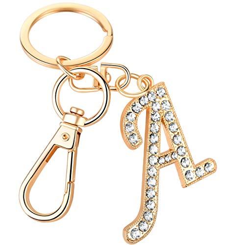 Keychain for Women AlphaAcc Purse Charms for Handbags Crystal Alphabet...