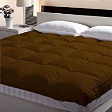 Inkcraft Finest Imported Super Microfiber Mattress Padding/Topper (twin-48x72, Brown)