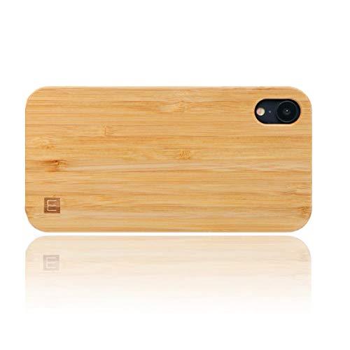 WOLA Funda Madera para iPhone XR Carcasa Madera Ciel Funda en Bambu
