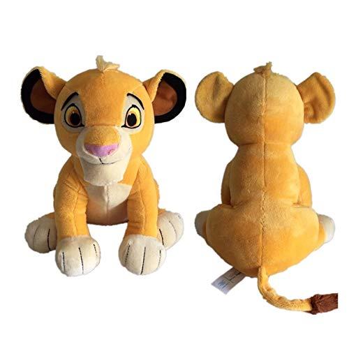 Taoyouzj Juguetes de Peluche Nuevo 26 cm Lindo Sentado Alto Lion King Peluche Juguetes de Peluche Suave Muñeca Muñeca para niños Regalos (Color : SZW Simba)