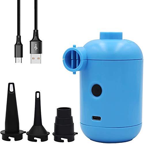 OBEST Mini Bomba de Aire eléctrica, Bombas de Aire eléctricas portátiles Que acampan USB