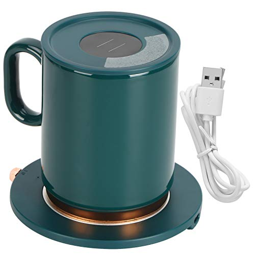 Calentador De Tazas De Café Usb, Abs + Aluminio + CeráMica Calentador...