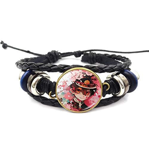 HughStore Jibaku Shounen Hanako Kun Armband, japanische Anime-Legierung, geflochtenes Armband, American Football, H04