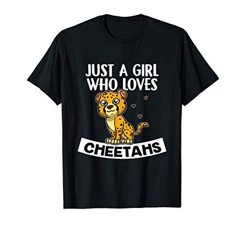 Just A Girl Who Cheetahs Disfraz De Leopardo Guepardo Camiseta