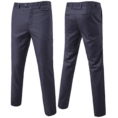 Pantalones Casuales de Moda de Color sólido para Hombre Ropa de Calle a la Moda Versátil Pantalones básicos clásicos cómodos de Cintura Media L
