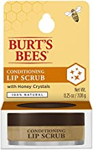Burt's Bees 100% Natural Conditioning Lip Scrub with Exfoliating Honey Crystals - Yellow , brown , 0.25 Ounce