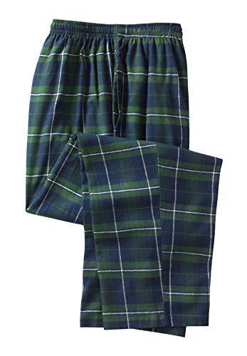KingSize Men's Big & Tall Flannel Plaid Lounge Pants, Balsam Plaid Tall-L