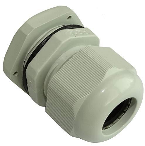 AERZETIX: 2 x Kabelverschraubung PG16 IP67 grau für Kabel 12-14 mm C43159