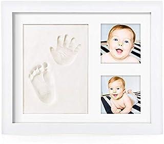 Marco de fotos con huella de mano y pie del bebé, regalo