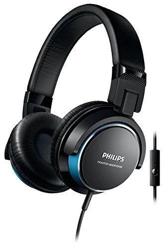 Philips SHL3265BL/00 - Auriculares de diadema cerrados tipo DJ (2000 mW, micrófono, plegables), negro y azul