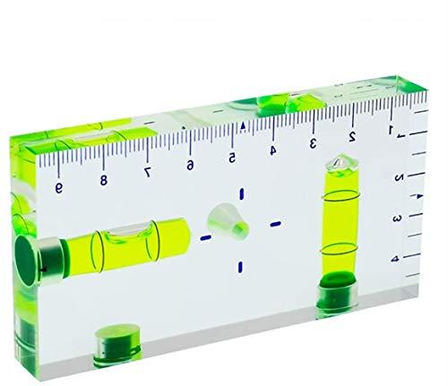 umei Nivel transparente T-Type Multi-funcional Burbuja de dos vías con escala magnética Tamaño 95x51x13mm