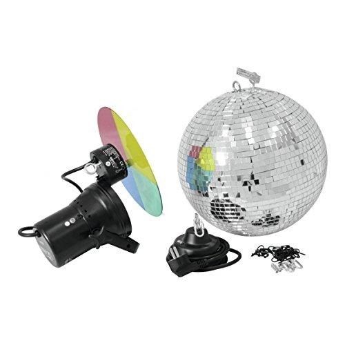 Eurolite Spiegelkugel Set 30 cm, Pinspot, Farbrad   Party Keller Club Discokugel