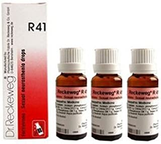3 x Dr. Reckeweg-Germany R41- Sexual Weakness Drops Homeopathic Medicine