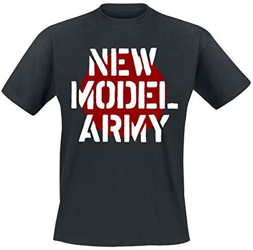 New Model Army Logo T-Shirt schwarz XL