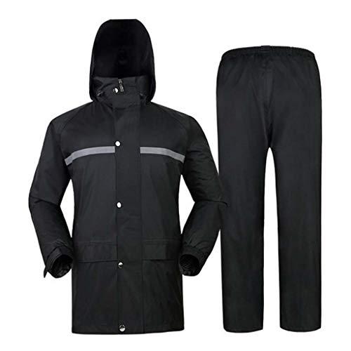 YSNUK Regenmantel Reflektierendes Plus Dickes Jacket Regenjacke- und Regenhosen-Set Electric, Elektroauto-Poncho-wasserdichtes Reiten im Freienregenmantel Regenzeit, verschneiter Tag, Outdoor-Events