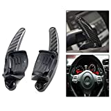 Gearmax DSG Paddle Shift Extension pour Volkswagen VW Golf 5 6 GTI R32 R Polo Touran, 1 paire (Noir)