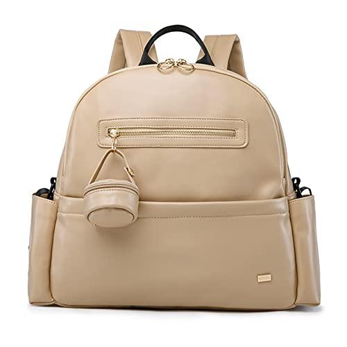 N\C Liupan112 Mochila para pañales de color caqui para mamá de viaje, gran capacidad, impermeable, suave, bolsa de cochecito para bebé recién nacido (color caqui)